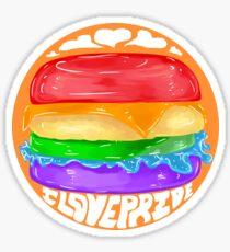 Rainbow Burger - Orange Sticker