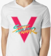 Super Street Fighter Five, 2: Turbo Impact Mens V-Neck T-Shirt