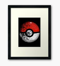 Destroyed Pokemon Go Team Red Pokeball Framed Print