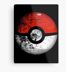 Destroyed Pokemon Go Team Red Pokeball Metal Print
