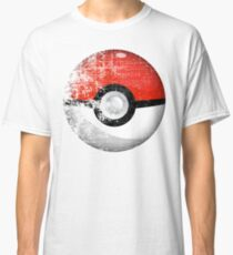 Destroyed Pokemon Go Team Red Pokeball Classic T-Shirt