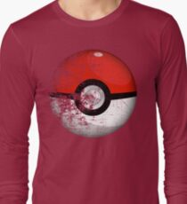 Destroyed Pokemon Go Team Red Pokeball Long Sleeve T-Shirt
