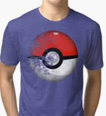Destroyed Pokemon Go Team Red Pokeball Tri-blend T-Shirt