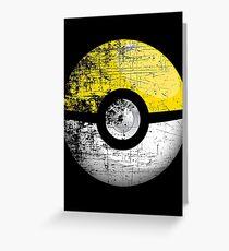 Destroyed Pokemon Go Team Yellow Pokeball Greeting Card