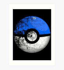 Destroyed Pokemon Go Team Blue Pokeball Art Print