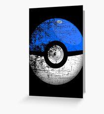 Destroyed Pokemon Go Team Blue Pokeball Greeting Card