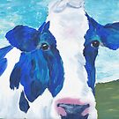 blue cow by luckylittle