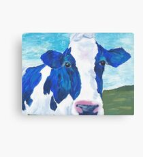 blue cow Canvas Print