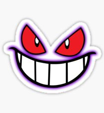 Gengar Monster Purple Pokeball Sticker