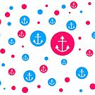 Pink & Blue Dots by aimznabz