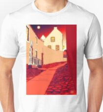 Dysart: Scottish Town digital drawing T-Shirt