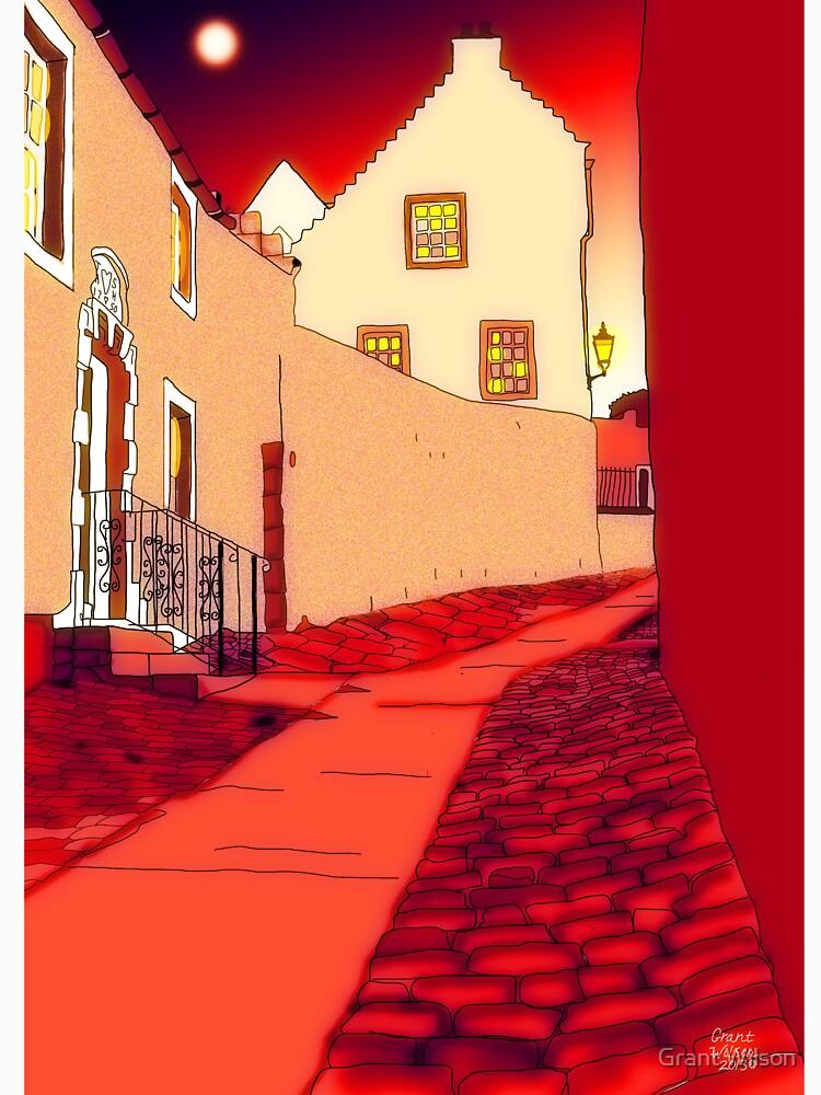 Dysart: Scottish Town digital drawing by grantwilson