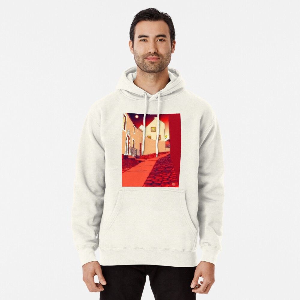 Dysart: Scottish Town digital drawing Pullover Hoodie