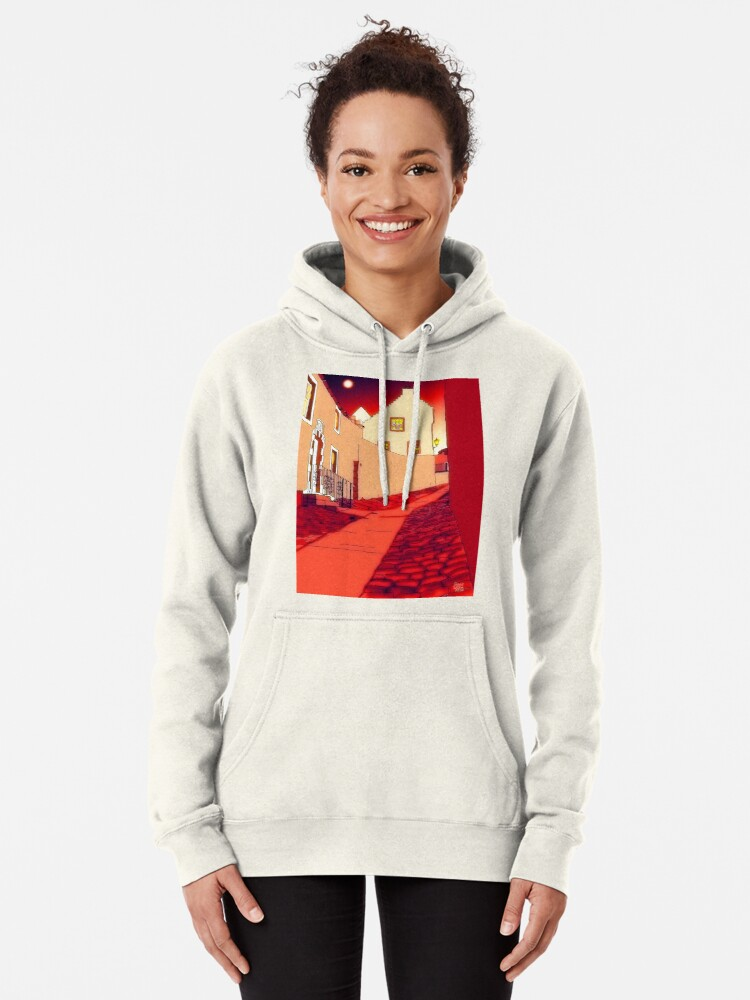 Alternate view of Dysart: Scottish Town digital drawing Pullover Hoodie