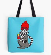 Lemur loves icecream Tote Bag