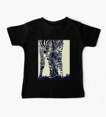"""""""Zebra"""" Pen, Ink, & Black Paint on Gesso Baby Tee"""