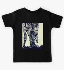 """Zebra"" Pen, Ink, & Black Paint on Gesso Kids Tee"