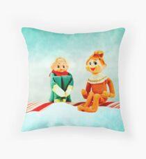 Elf First Date Throw Pillow