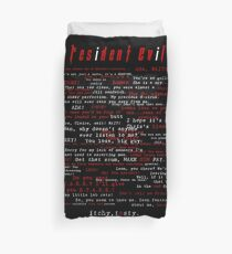 Resident Evil Quotes Duvet Cover