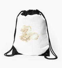 Pet Pinup Drawstring Bag