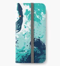 Tintenfisch-Spritzen iPhone Flip-Case/Hülle/Skin