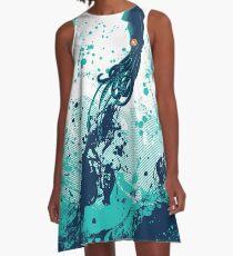 Tintenfisch-Spritzen A-Linien Kleid