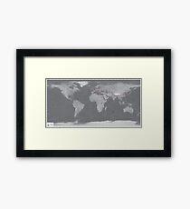 Natural Earth Grey Framed Print