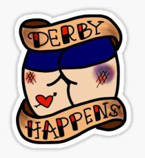 Derby passiert Tattoo Sticker