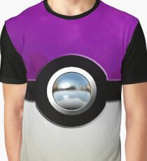 Gengar Monster Purple Pokeball Graphic T-Shirt