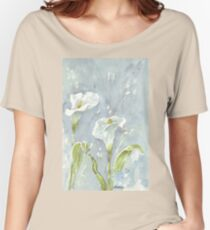 Arum lilies (and fireflies) at night Women's Relaxed Fit T-Shirt