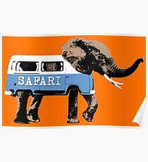 Elephant Safari Poster