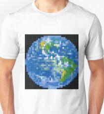 Pixelized Earth Unisex T-Shirt