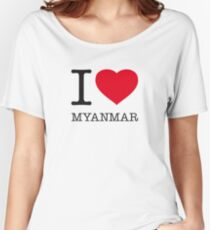 I ♥ MYANMAR Women's Relaxed Fit T-Shirt