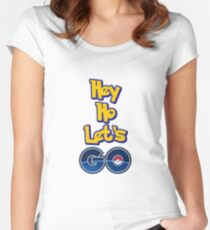 Hey Ho Let's Pokémon GO! Women's Fitted Scoop T-Shirt