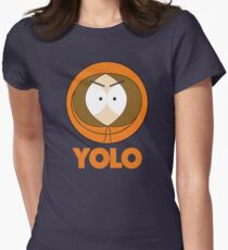 South Park Kenny - YOLO Womens Fitted T-Shirt