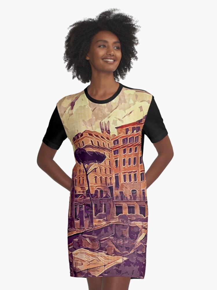 Campus Martius Julius Caesar Ancient Rome Italy Architecture Graphic T-Shirt Dress Front