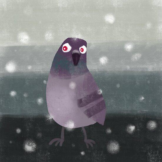 Angry Pigeon by Angela Martini