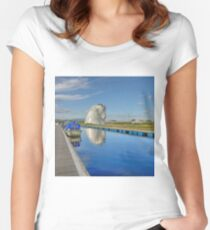 The Kelpies, Helix Park, Scotland Fitted Scoop T-Shirt