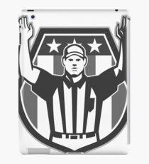 American Football Official Referee Grayscale iPad-Hülle & Klebefolie