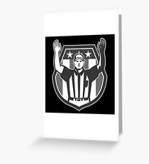 American Football Official Referee Grayscale Greeting Card