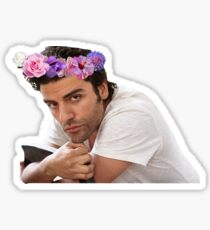 Oscar Isaac Flower Crown Sticker