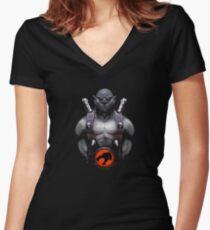 panthro thundercats Women's Fitted V-Neck T-Shirt