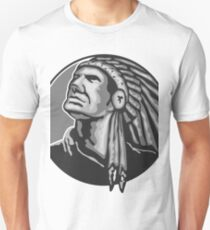Native American Indian Chief Grayscale Unisex T-Shirt