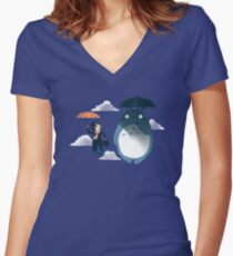 The Perfect Neighbor Women's Fitted V-Neck T-Shirt