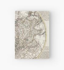 Vintage Map of The Northern Hemisphere (1741) Hardcover Journal