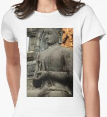Mudra - Buddhist Monastery, Bali Women's Fitted T-Shirt