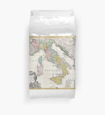Vintage Map of Italy (1742) Duvet Cover