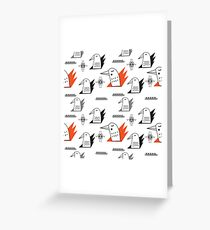 Birds in flames Greeting Card