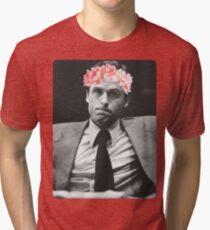Flower crown Ted Bundy Tri-blend T-Shirt