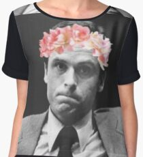 Flower crown Ted Bundy Chiffon Top